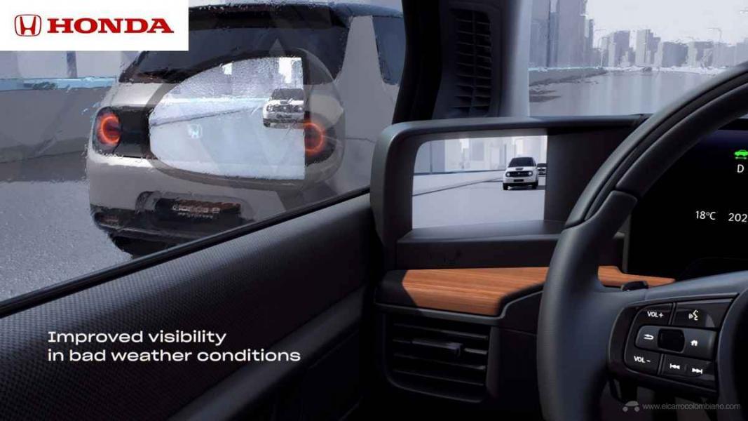 Honda e Side Camera Mirror System