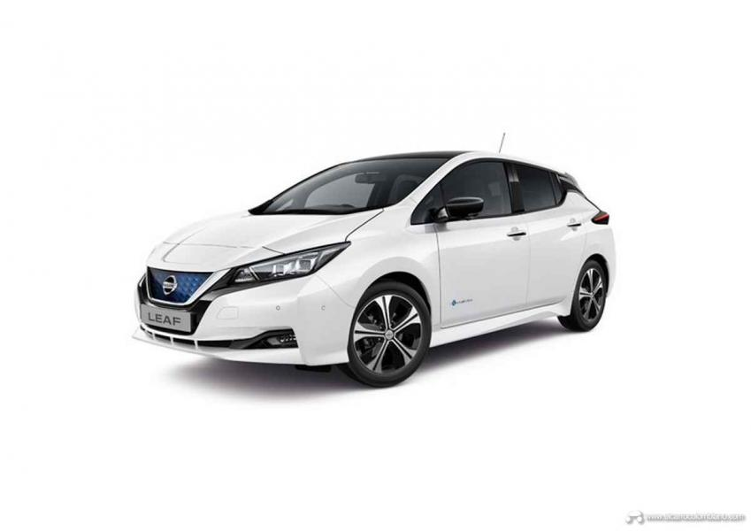 876454b_LEAF_2018_-_RHD_3_4_Front_Flipped_View_Pearl_White_with_Black_XDF_Tekna
