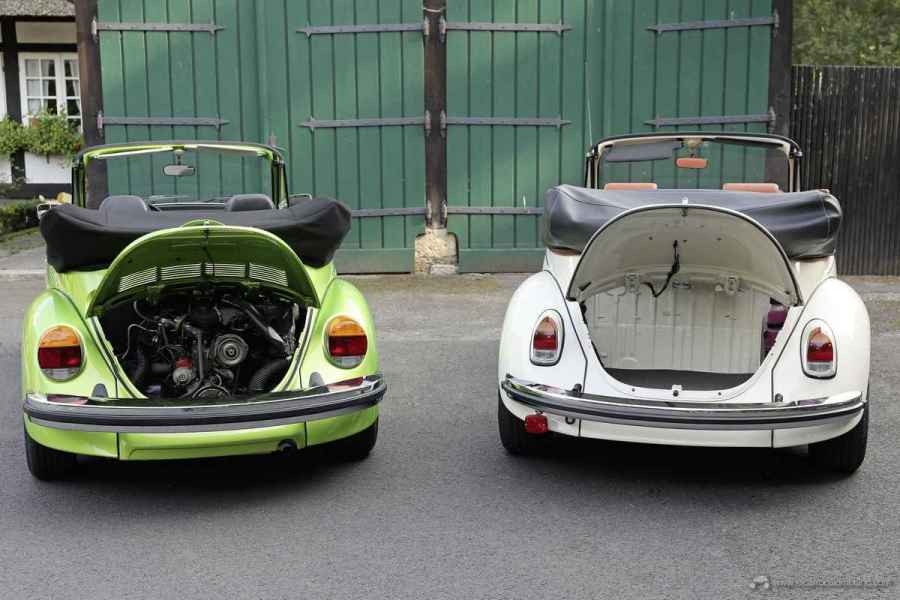 The e-Beetle is providing an additional trunk, where the classic