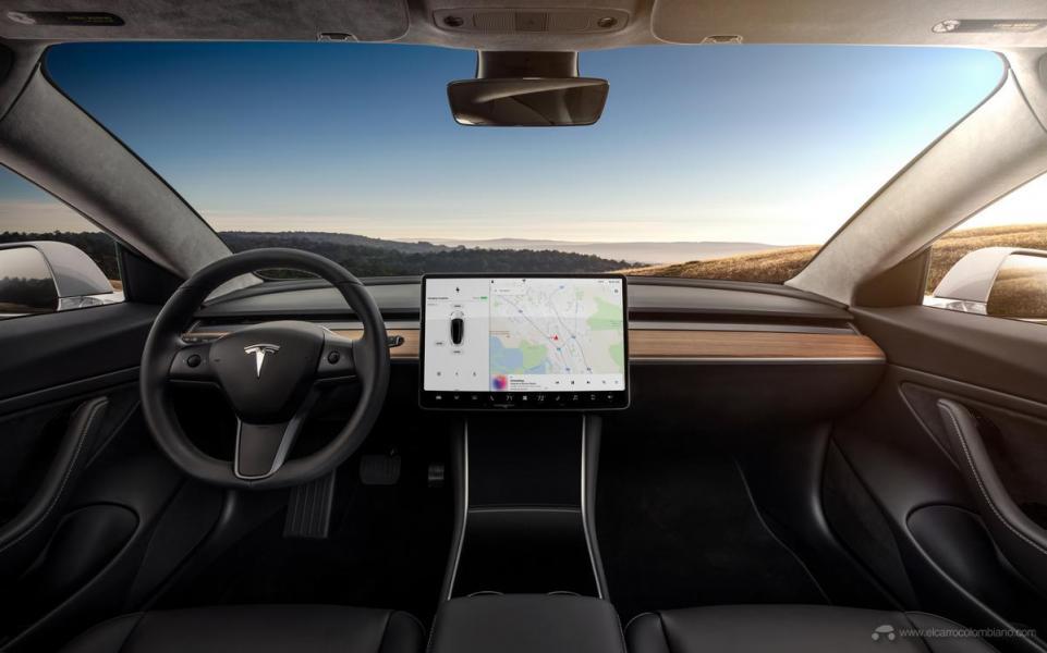 Model-3-Interior-Dashboard-Head-On