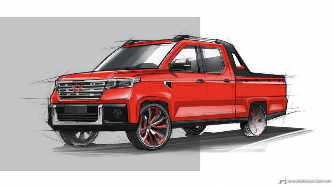 2021-Wuling-Journey-pickup-truck-China-Sketch-001-Exterior-front-three-quarters