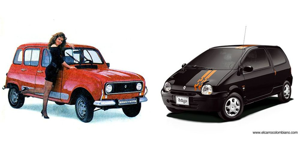 renault 4 colombia, renault twingo colombia, historia