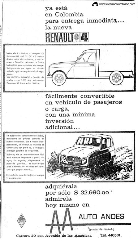 Renault 4 Break 1966 en Colombia