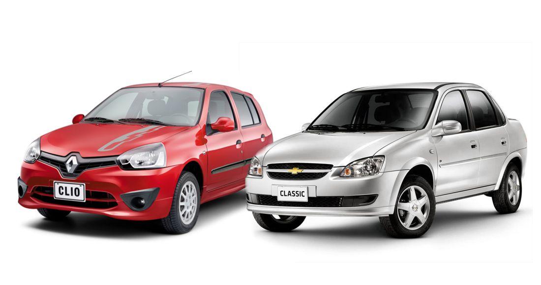 Despedida Renault Clio II y Chevrolet Corsa Classic