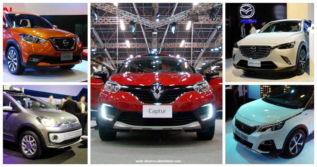 Top 5 Lanzamientos mas vistos Salón del Automóvil de Bogotá 2016 - Nissan Kicks, Renault Captur, Volkswagen Cross Up!, Mazda CX-3, Peugeot 3008