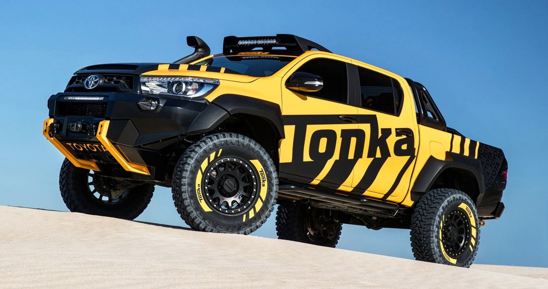toyota hilux tonka concept la camioneta de juguete ahora es de verdad. Black Bedroom Furniture Sets. Home Design Ideas