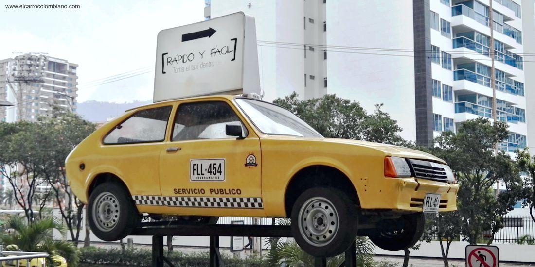 chevrolet chevette taxi, chevette taxi, centro comerciales bucaramanga, chevrolet chevette coupe