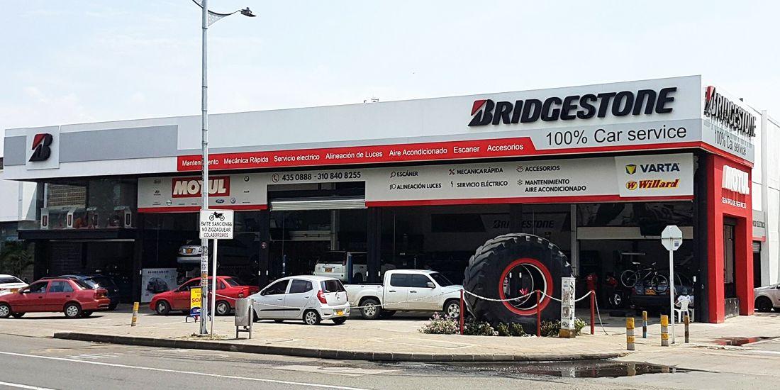 bridgestone de colombia, 100% car service, bridgestone cali, centros de servicio bridgestone
