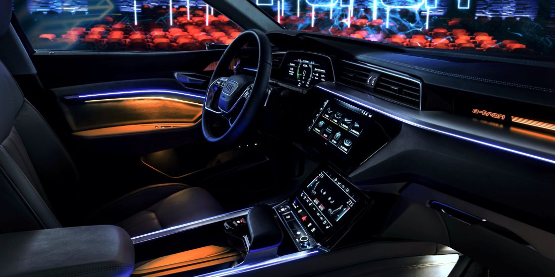 audi e-tron prototype, audi e-tron 2019, audi e-tron, audi e-tron interior, audi e-tron tecnologia, audi e-tron electrico, audi e-tron suv electrico