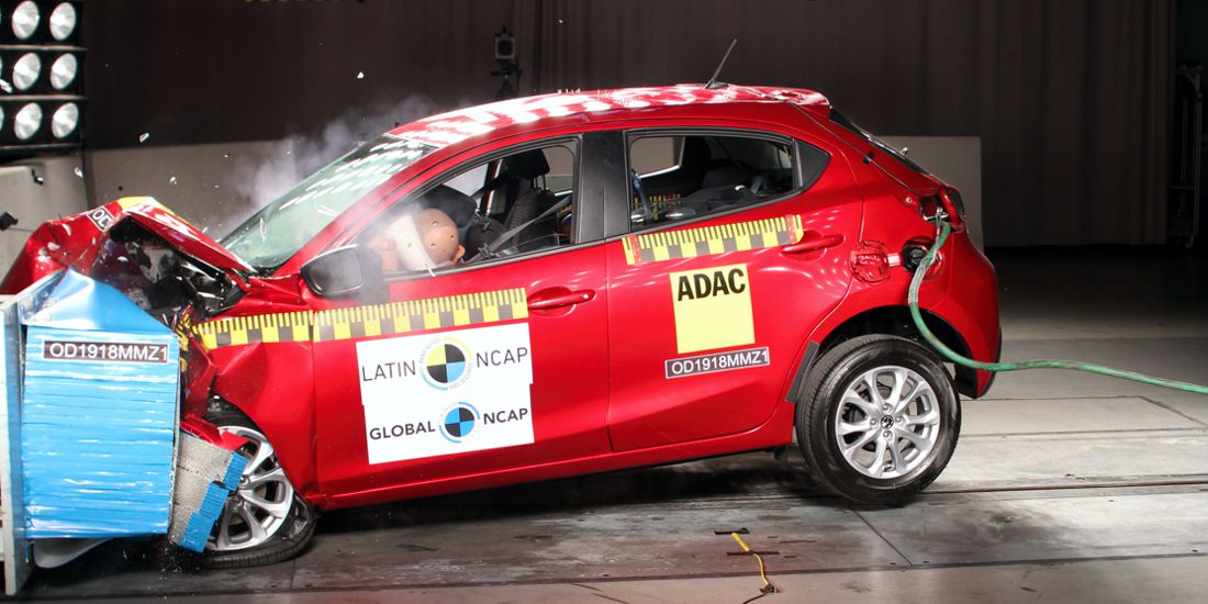mazda 2 latin ncap, nissan march latin ncap, mazda 2 seguridad, nissan march seguridad, nissan march calificacion latin ncap, mazda 2 calificacion latin ncap