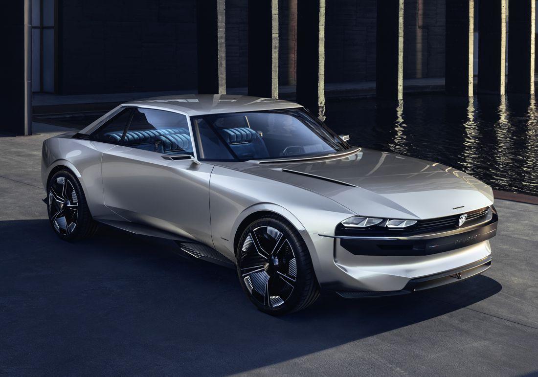 peugeot e-legend concept, peugeot electrico, peugeot conduccion autonoma, peugeot salon de paris 2018, peugeot e-legend, peugeot 504 coupe