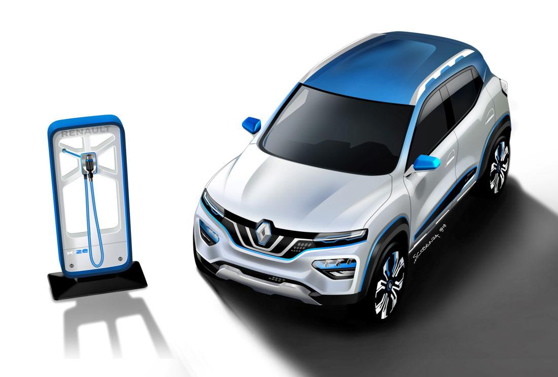 renault k-ze, renault k-ze concept car, renault k-ze showcar, renault kwid electrico, renault kwid electric, renault kwid colombia, renault kwid electrico autonomia