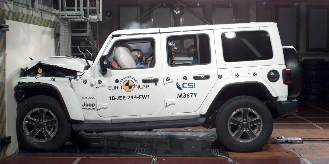 jeep wrangler seguridad, fiat panda seguridad, jeep wrangler 2019, fiat panda, fiat panda 2018, jeep wrangler euro ncap, fiat panda euro ncap, jeep wrangler prueba de choque, fiat panda prueba de choque