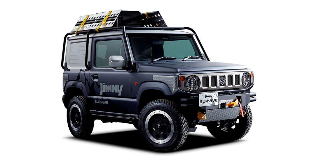 suzuki jimny survive, suzuki jimny concept cars, suzuki jimny custon concepts, suzuki jimny tokio autoshow 2019, suzuki jimny offroad, suzuki jimny 2019, suzuki jimny 2020
