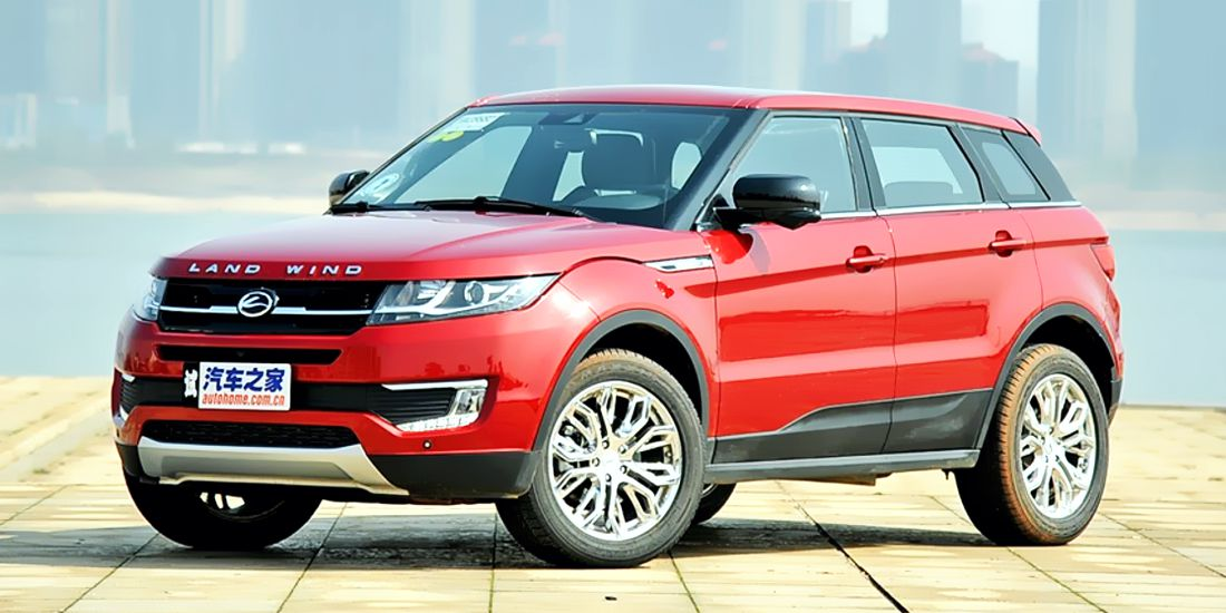 landwind x7, copia china de range rover evoque, demanda jaguar land rover a landwind, demanda jaguar land rover a jiangling china, jmc landwind x7, range rover evoque 2020