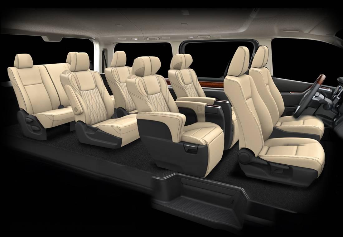 toyota granace 2020, toyota hiace 2020, toyota granace caracteristicas, toyota granace minivan, toyota hiace minivan pasajeros