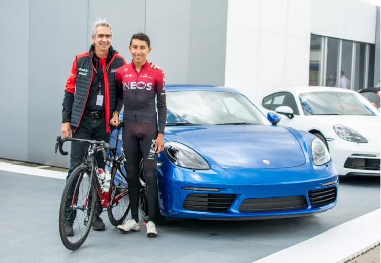 Egan Bernal Porsche, Embajadores de marca porsche, Porsche Colombia, Egan Bernal Porsche Fotos, egan bernal, egan bernal tour de francia 2019, porsche en colombia