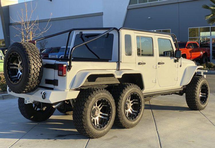 jeep wrangler, jeep wrangler 6x6, wrangler 6x6, jeep, wrangler 6x6, jeep modificada, jeep 6x6, jeep wrangler modificada, todoterreno 6x6, carros modificados con tres ejes, carros 6x6