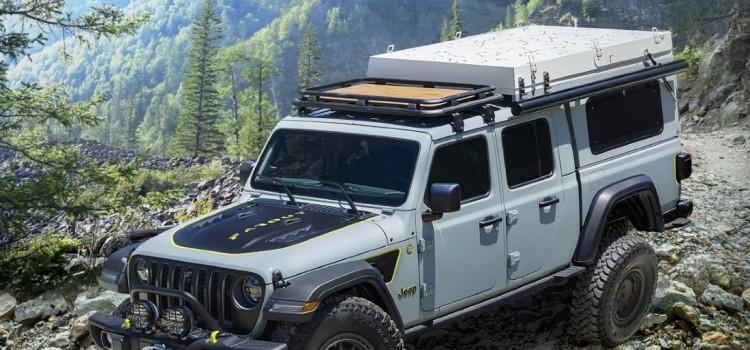 Jeep Gladiator Farout Concept, Nuevo Jeep Gladiator Farout Concept, Jeep Gladiator Farout Concept 2021, Jeep Gladiator con carpa, Jeep Gladiator con techo, Jeep Gladiator para acampar, Jeep Gladiator 2021, Jeep Gladiator EcoDiesel, Jeep Gladiator concepto, Jeep Gladiator Wayout Concept
