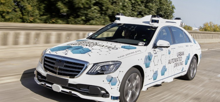 Mercedes-Benz Clase S, Mercedes-Benz Clase S robotaxi, Mercedes-Benz Clase S autónomo, Carro autónomo de Daimler, Carro Autonomo de Bosch, Carro autónomo de Nvidia, Alianza Daimler Bosch Nvidia, Carros autónomos California, Mercedes-Benz Silicon Valley