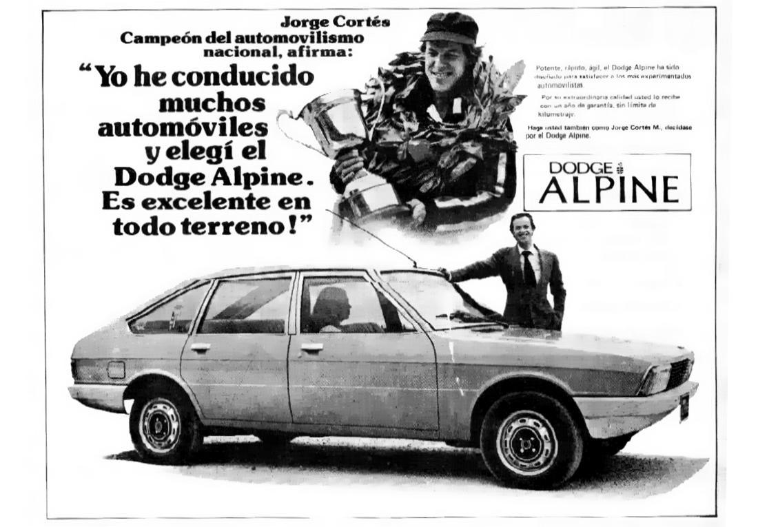 dodge alpine, dodge alpine 1978, dodge alpine publicidad, dodge alpine comercial de television, dodge alpine colombia, historia dodge alpine colombia, publicidad antigua en colombia, publicidad historica automotriz en colombia, auto del año 1976 en europa, dodge alpine 1979, chrysler colmotores, simca 1307, simca 1308, simca 1307 publicidad, simca 1308 publicidad