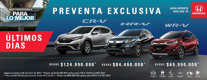 Honda Preventa Exclusiva en Colombia
