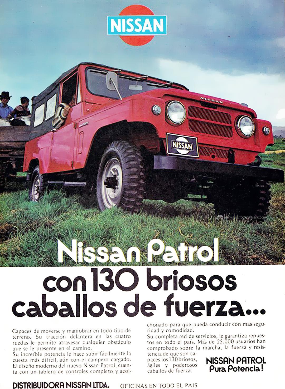 nissan patrol, nissan patrol 60, nissan patrol g60, nissan patrol colombia, nissan patrol historia en colombia, nissan patrol g60 en colombia, nissan patrol g60 historia en colombia, nissan patrol publicidad en colombia, nissan patrol g60 publicidad en colombia, camperos en colombia, nissan patrol antiguo, nissan patrol antiguo en colombia, nissan patrol 1960, nissan patrol 1961, nissan patrol 1970, nissan patrol 1972, nissan patrol 1979, nissan patrol 1980, nissan patrol samurai, nissan patrol samurai colombia