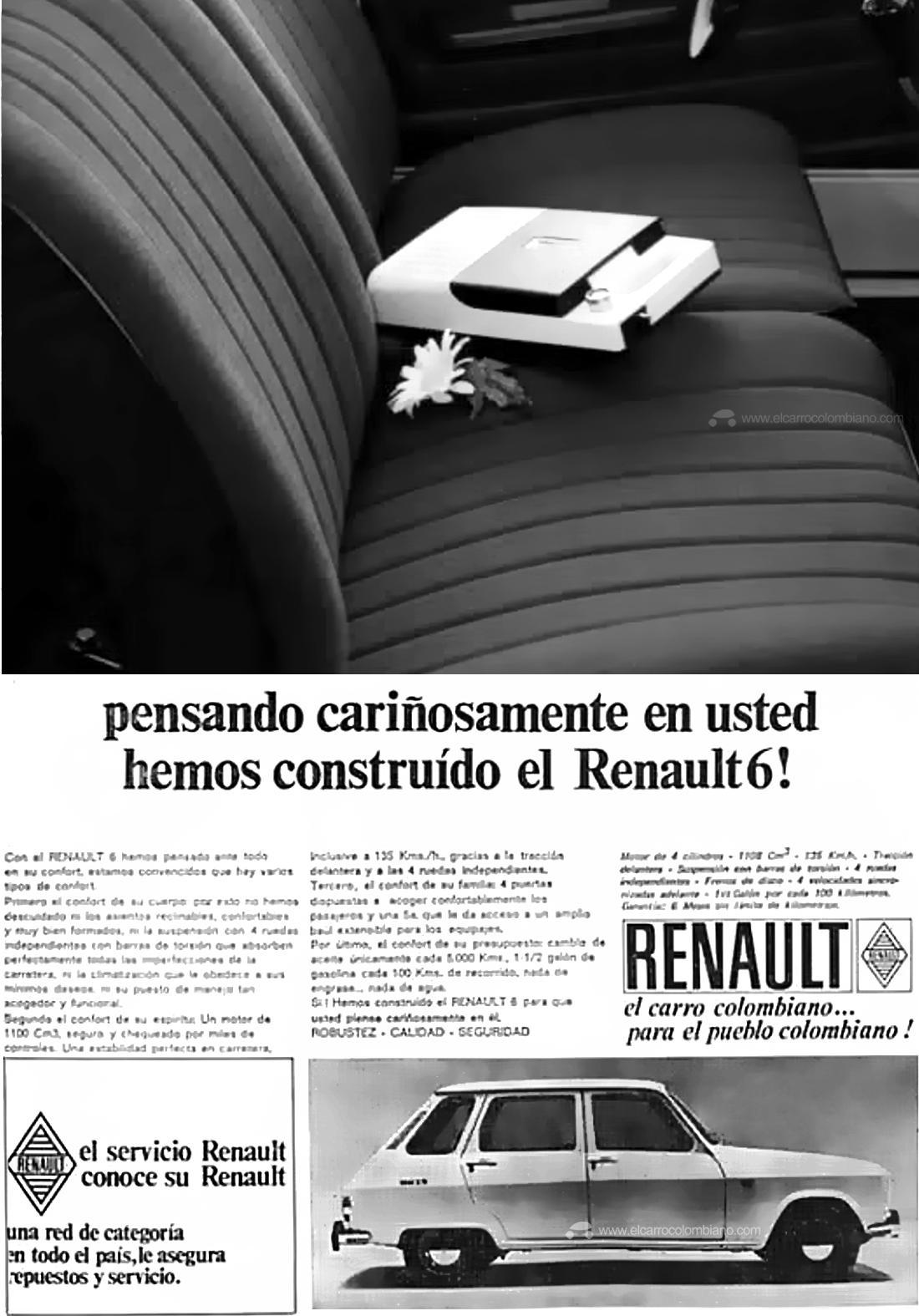 renault 6, renault 6 colombia, renault 6 historia en colombia, renault 6 lanzamiento en colombia, renault 6 publicidad, renault 6 publicite, renault 6 1970, renault 6 1971, renault 6 colombia 1971, publicidad de 1971, publicidad antigua en colombia, publicidad antigua de autos, publicidad antigua de carros en colombia, primeros renault en colombia