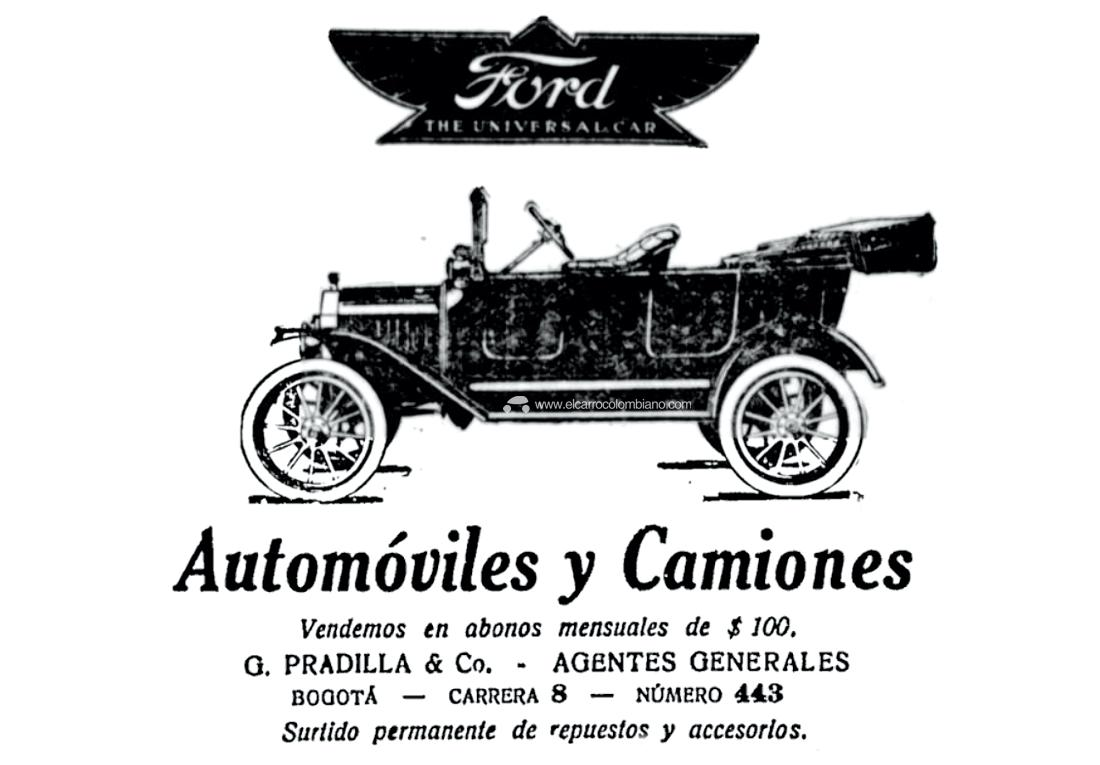 ford t, ford t colombia, ford model t, ford modelo t, historia del carro en colombia, primeros carros en colombia, primeros carros que llegaron a colombia, ford t 1917, colombia a comienzos del siglo xx, primer carro popular de la historia, primeros autos en colombia, historia de la publicidad en colombia