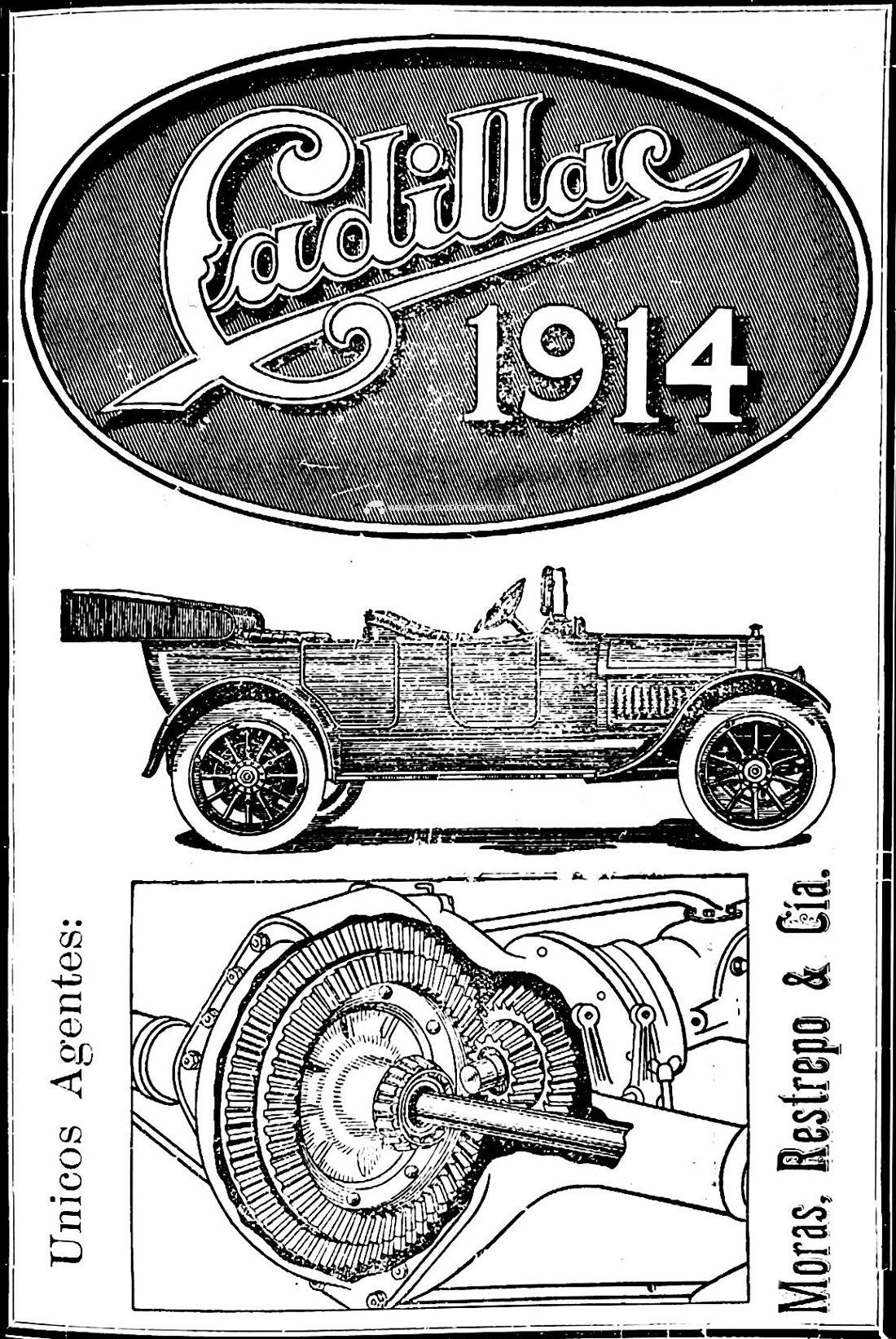 Cadillac, publicidad automotriz más antigua en Colombia (1913)