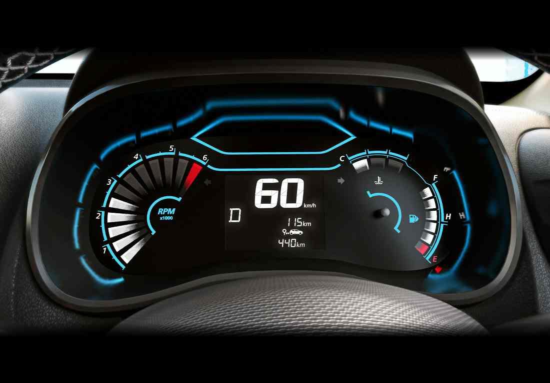 Renault Kwid 2023, tablero digital