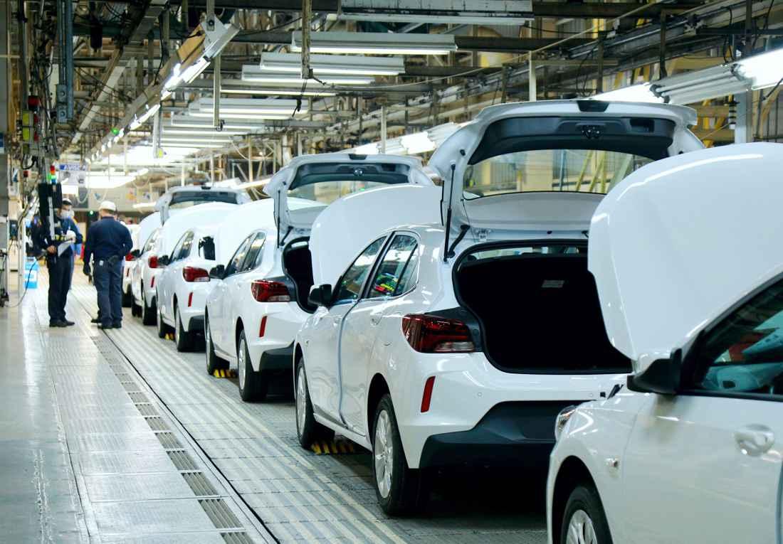 Chevrolet Onix RS producción en GM Brasil