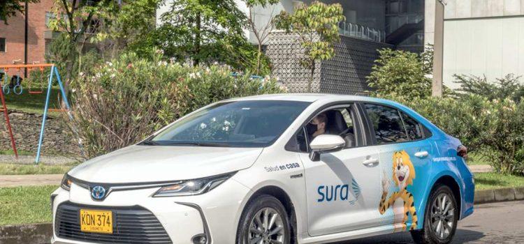 """Toyota Corolla híbrido Seguros Sura """"Salud en Casa"""""""