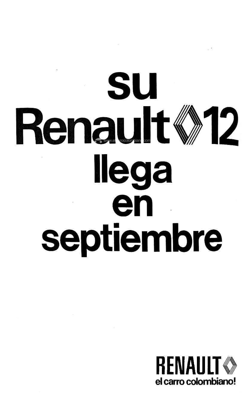 Renault 12 publicidad 1973