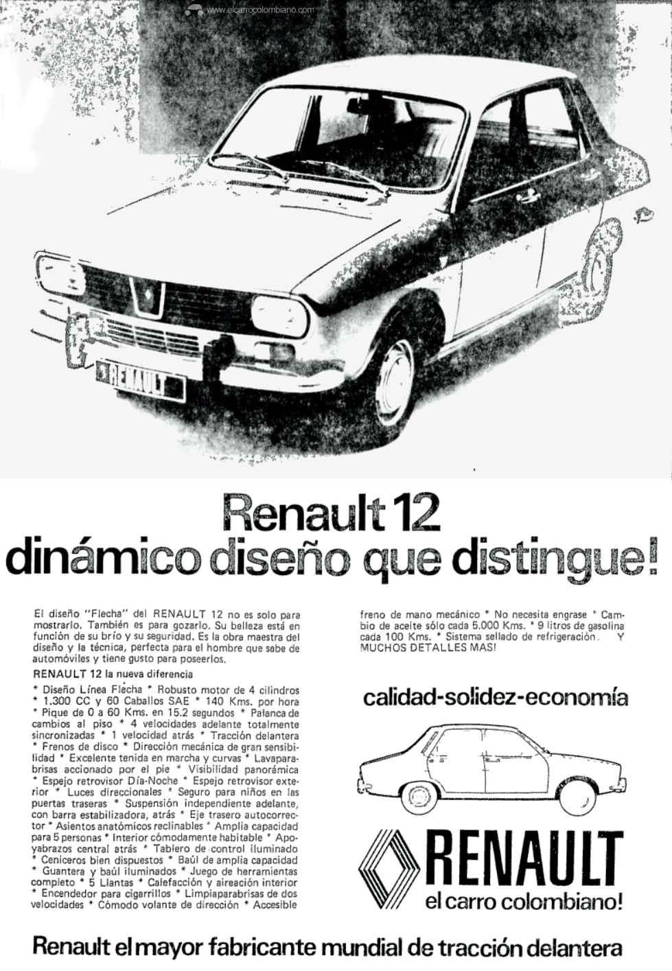 Renault 12 publicidad 1974