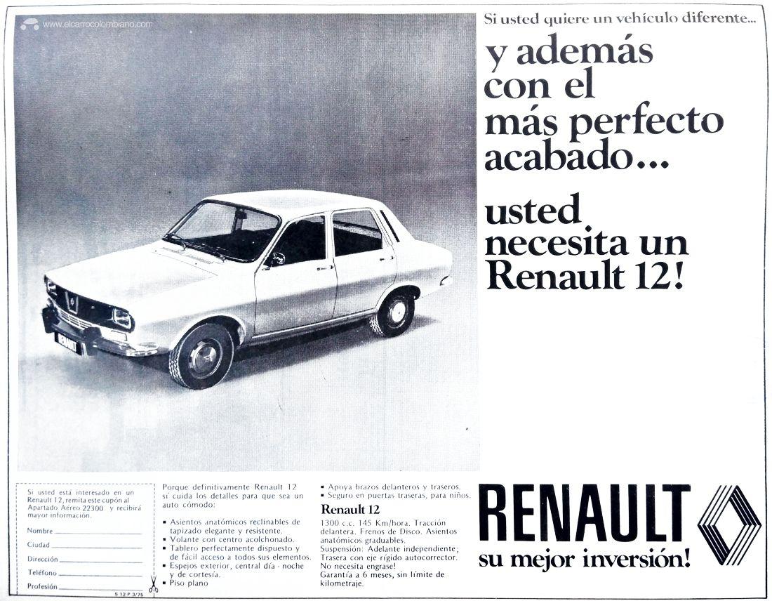 Renault 12 publicidad 1975