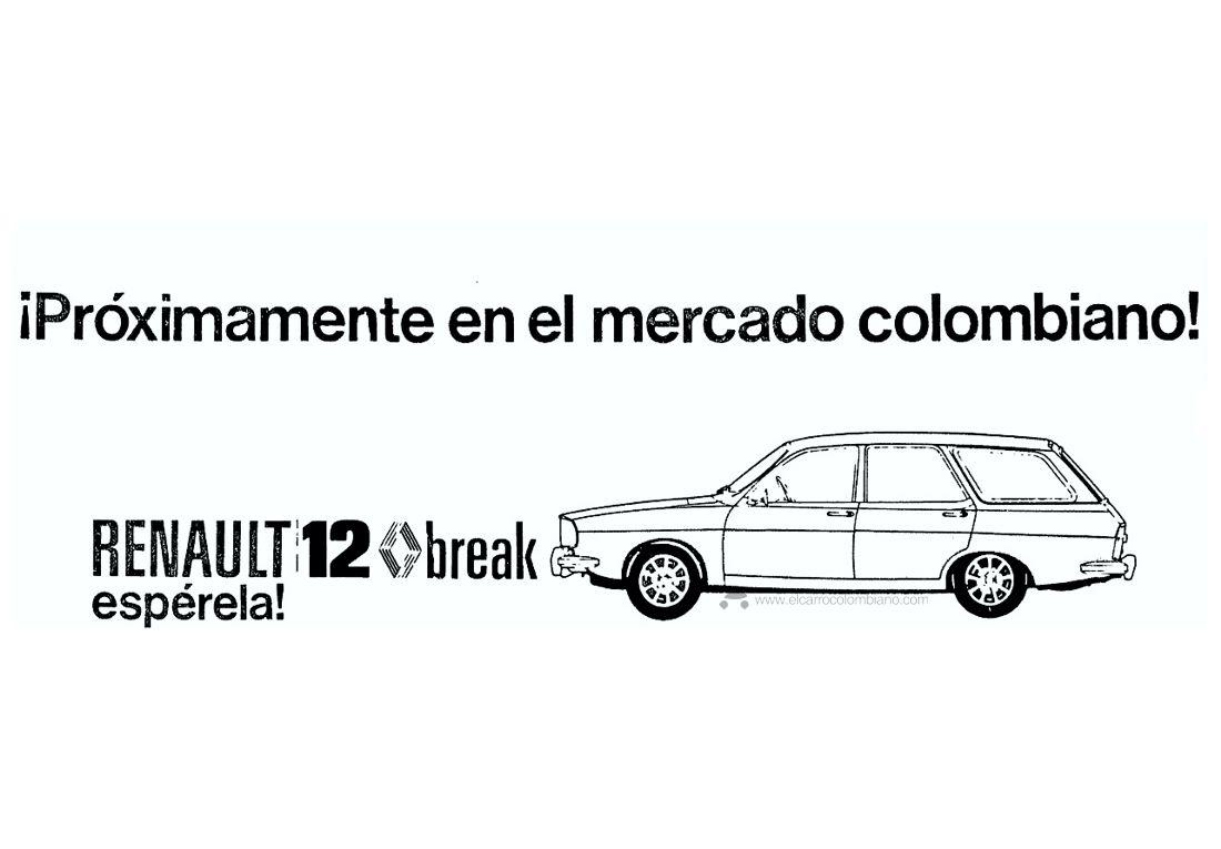 Renault 12 Break publicidad 1974