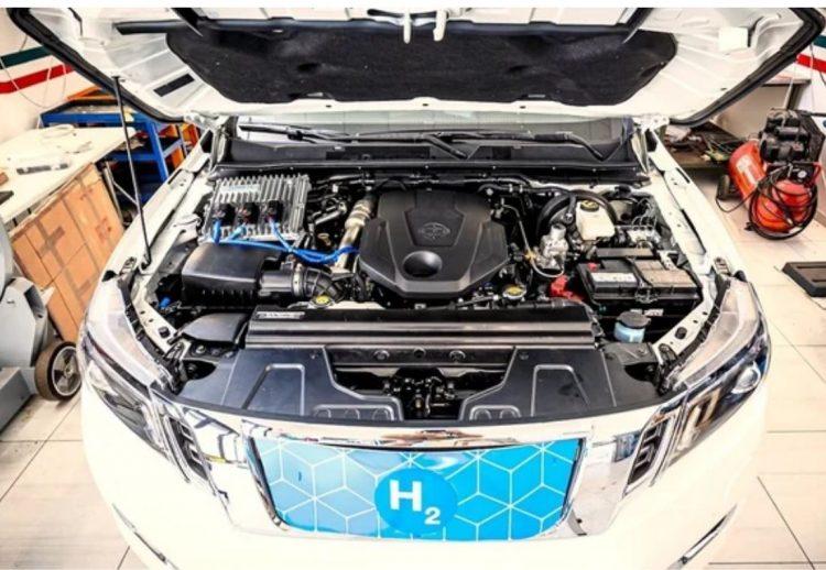 Nissan Frontier con hidrógeno caliente