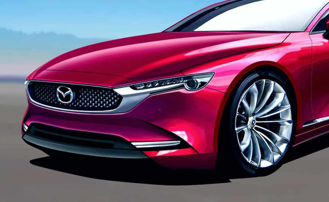 Mazda 6 Hybrid 2023, proyección digital