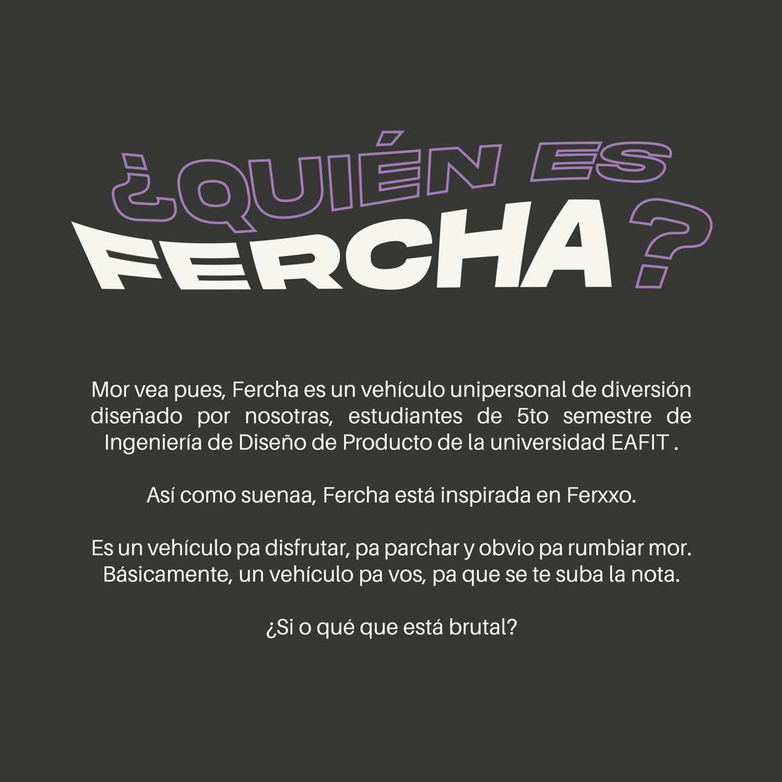 Fercha, proyecto vehículo eléctrico colombiano EAFIT