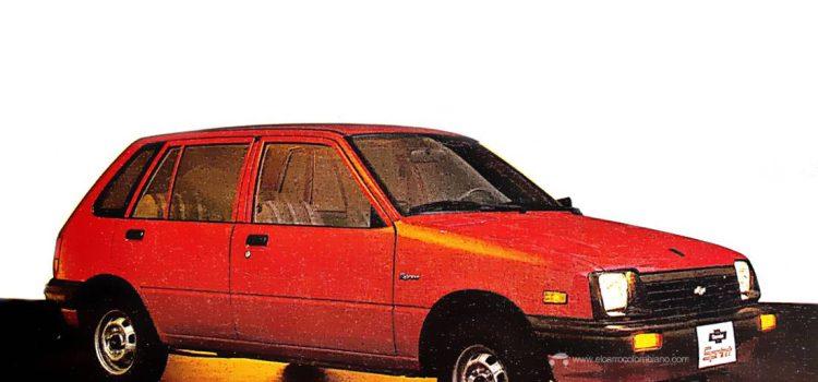 Chevrolet Sprint 1986, lanzamiento en Colombia.