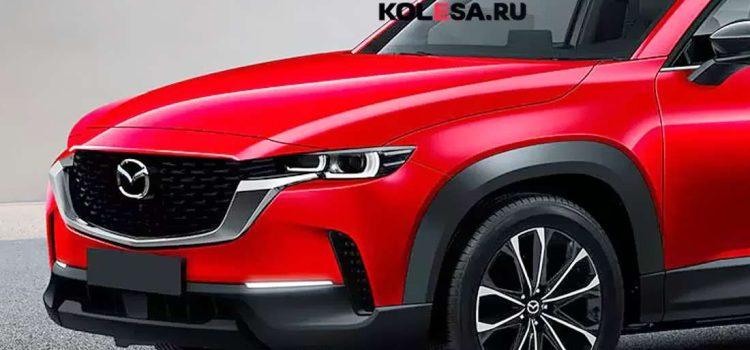 Mazda CX-60, render por Kolesa.ru