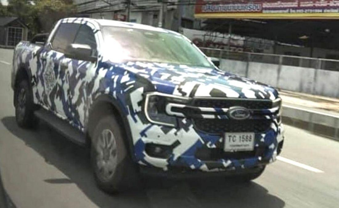 Ford Ranger 2022 fotos espía